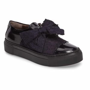 AGL Platform Sneakers Blue Patent Bow